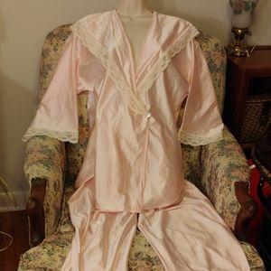 Vintage 80s pink pjs with sailor collar